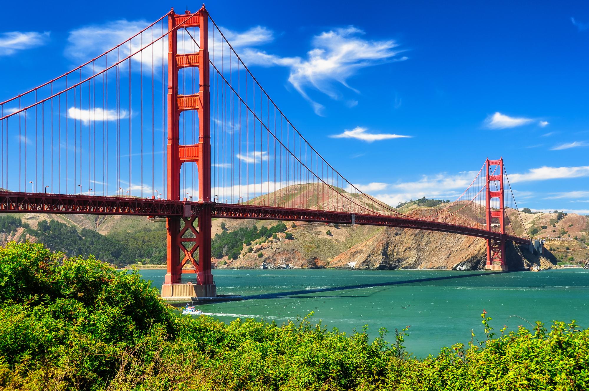 San Francisco Golden Gate Bridge in California