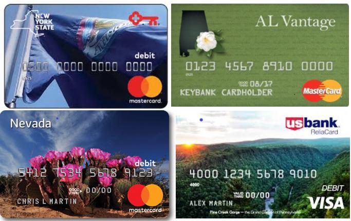 UI Unemployment PrePaid Debit Card Examples